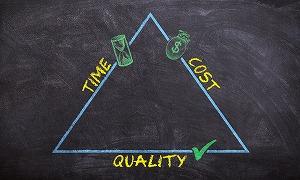 コストと時間との削減と品質の向上